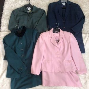 2 Piece Suit Set Lot of 4 Vintage Suits